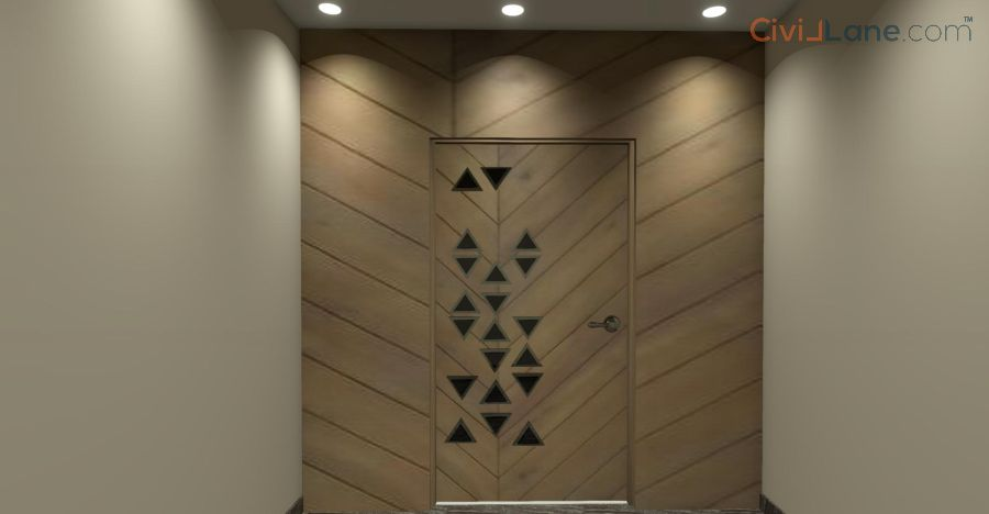 Safety Door Design Sour Wood-1