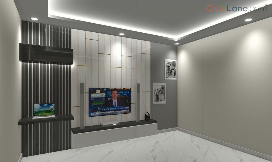 TV Unit Design 10 Feet 10081-3