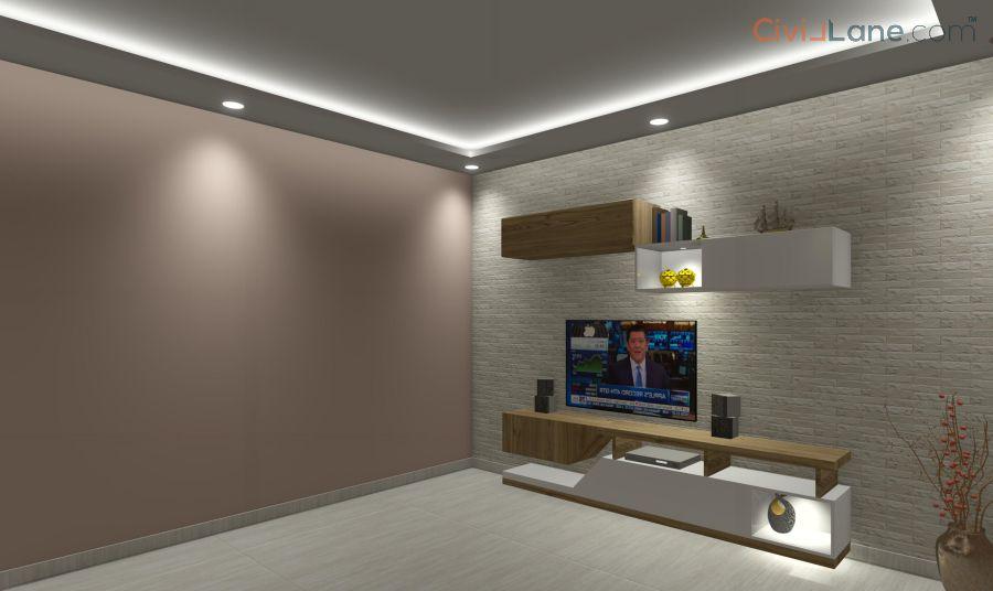 TV Unit Design 8 Feet 14586SF-3