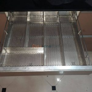 Kitchen Perforated Cutlery Basket Tray