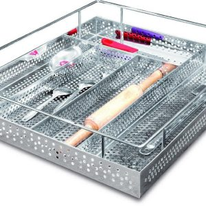 Perforated Cutlery Basket SS 304 5 Compartment